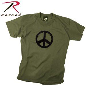 تي شيرت مطبوع Peace, روثكو, زيتي