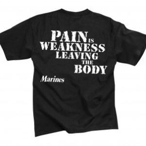 تي شيرت مطبوع Marines ''Pain Is Weakness'', روثكو, اسود