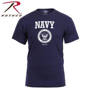 تي شيرت مطبوع US Navy, روثكو, كحلي
