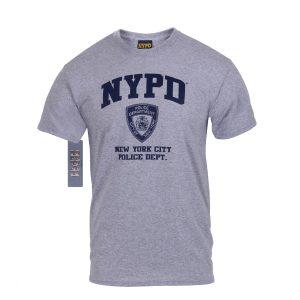 تي شيرت مطبوع NYPD, روثكو, رمادي