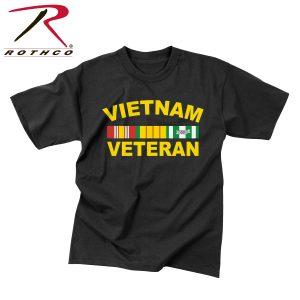تي شيرت مطبوع Vietnam Veteran, روثكو, اسود