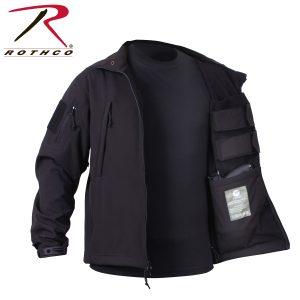 جاكيت عسكري Concealed Carry, روثكو, اسود